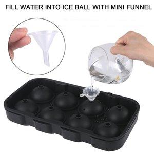 Yeni Tasarım 1 Adet 8 Boşluk Buz Topu Tepsi Silikon Ice Cube Topu Dondurulmuş Buz Küresi Kalıp Yuvarlak Küp Tepsi Formu Silikon Kalıp Pop Kalıp
