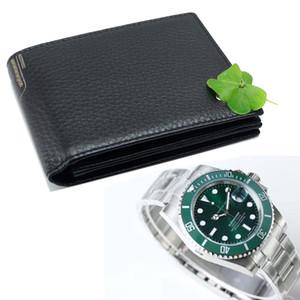 Männer Luxus Business MB echtes Leder Brieftasche Kartenetui schwarz Kartenhalter Brieftaschen Klassiker RX Luxusuhr