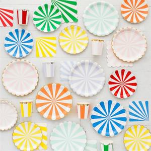 Тарелка партии Одноразовая посуда нашивки золотой фольги бумажный стаканчик ткани Салфетки столовые принадлежности Набор Baby Shower Фавор С Днем Рождения Decor 26 5yz Bb