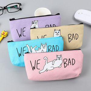 Милый Каваи мультфильм забавный кот школа пенал для девочек мальчиков офис школьные принадлежности стационарный магазин