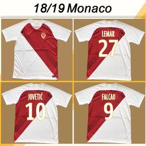 2018 19 como Jerseys de fútbol Monaco Falcao Jovetic Rony J.Moutinho Home Mens Football Shirts Golovin A.Raggi Tielemans Maillot de Foot Chemises