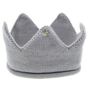 Caliente y agradable diseño Hilados de lana Cute Baby Boys Girls Crown Knit Headband Hathair accesorios sombrero tiaras infantil