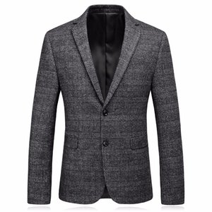 Mens Tweed Jacket 2017 Khaki Suit Blazer Male High Quality Stylish Tweed Jacket Men Casual Coat Slim Fit Costume M-3XL