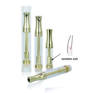 Высокое количество Золотой 92A3 картридж Vape атомайзер металлический наконечник толстый масляный картридж катушки стеклянный бак E сигареты 510 картридж