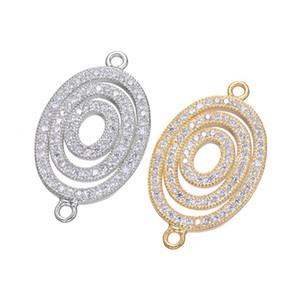 Gros Handmade DIY Bijoux Accessoires 2018 Luxe Design Zircon Bracelets Pendentif Charms Connecteurs Résultats Clasps Composants Raccords