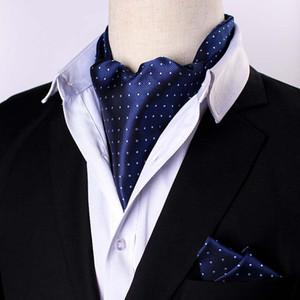 TIESET 남자의 Ascot 스카프 페이즐리 넥타이 여러 가지 빛깔의 복고풍 넥타이 럭셔리 영국 스타일 신사 폴리 에스터 웨딩 파티 도매