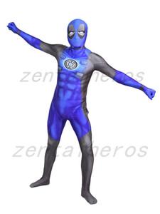 3D print deadpool lantern corps Superhero costume Spandex Lycra Zentai Cosplay Halloween Party Costume