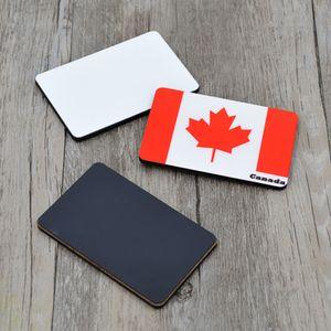 10pcs / lot sublimation blanc bricolage Fridge Magnets rectangle en bois MDF Réfrigérateur autocollant Aimants Creative cadeau d'anniversaire