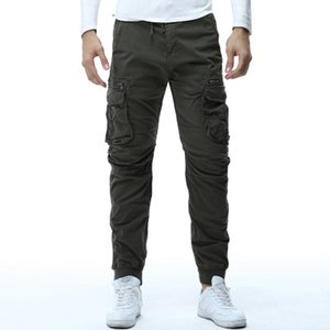Mens Camouflage Tactical Cargo Pants Men Joggers Boost Military Casual Cotton Pants Hip Hop Ribbon Male Army Trousers Multi-Pocket Hot
