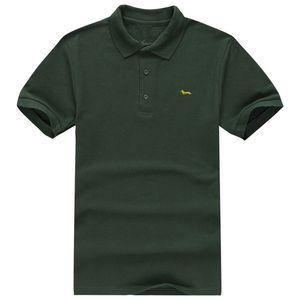 Nuevos hombres de manga corta camisa de polo de verano 100% algodón venta caliente harmont solid slim fit trece colores blaine camisas suaves y transpirables