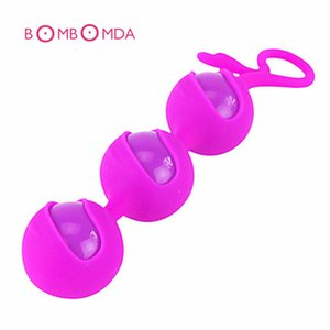 Silicone Kegel Ball 3 Beads Vagina Exercise Vaginal Trainer Love Ben Wa Pussy Muscle Training Adult Toys For Couples Sex Product Y1892703