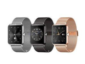 Роскошные Bluetooth Smart Watch Z50 SmartWatch телефон NFC поддержка SIM-карты TF носимых устройств SmartWatch для iOS Android против Q18 смарт-часы