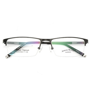 Occhiali da vista montatura da vista Occhiali da vista da uomo Nerd in lega di titanio Computer ottico Tag Occhiali da vista per uomo Trasparente Lente trasparente