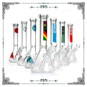 Vendita calda Zob Hitman bong acqua bicchiere di vetro da 10 pollici pipa ad acqua in vetro Rasta per pipe di vetro waterpipes narghilè nel trasporto libero