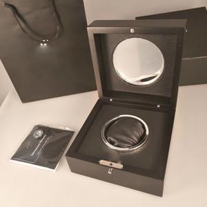 Marca Suiza Cajas de relojes con bolsa de pastillas Estuche de relojes de lujo Relojes de pulsera negra Caja de reloj original para LSL9013 Spot Supply