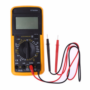 LCD Multímetro Digital Tester AC DC Voltímetro Amperímetro Volts Amps Resistores Ohms Medidor Multitester Elétrico