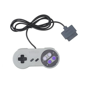 New Retro 16 Bit Wired Game Controller Console Pad Gamepad Joypad For SNES System Console DHL FEDEX EMS FREE SHIPPING