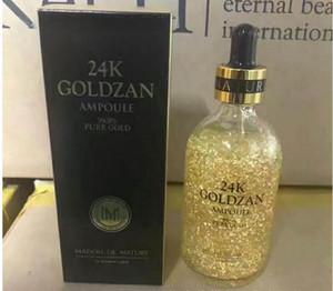 최신 24K GOLDZAN AMPOULE 페이스 크림 화장품 24K 골드 에센스 세럼 전문 메이크업 DHL 여성용