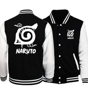 Japonya Anime Naruto Uzumaki Beyzbol Üniforma Erkekler Sword Art Online SAO Ceket Cep Canavar Ceketler Siyah Beyaz Spor