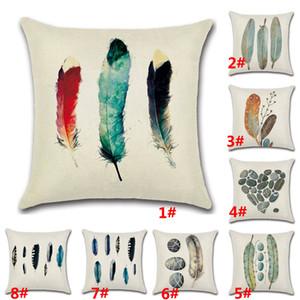 45 * 45cm décorative taie d'oreiller jet couvre la plume de coton lettre maison canapé canapé décoration 18 x 18 pouces hh7-393