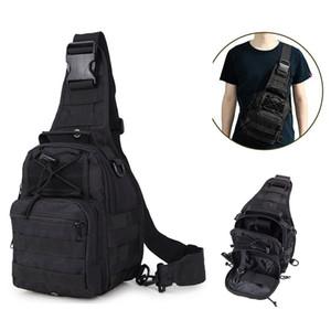 Тактический одиночный плечевой пакет Многофункциональный водонепроницаемый сундук через плечо слинг-рюкзак для походов на открытом воздухе