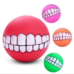 الحيوانات الأليفة جرو الكلب مضحك الأسنان الكرة مضغ الصوت الكلاب تلعب لعبة الحيوانات الأليفة الكلب جرو الكرة الأسنان سيليكون لعبة الصوت