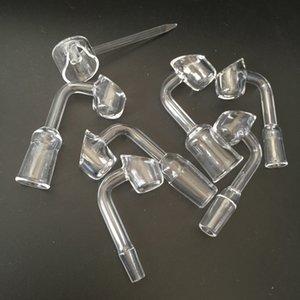4mm dicke 100% domeless Quarz Banger Nail + Carb Cap Honig Eimer Quarz Nagel VS Keramik Titan Nagel Fit Glas Bubbler