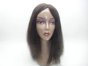 Pelucas llenas del cordón Peluca llena brasileña del cordón Peluca recta del cordón Para las mujeres negras Sin pelo Red de MONO Se puede personalizar las pelucas de kabell