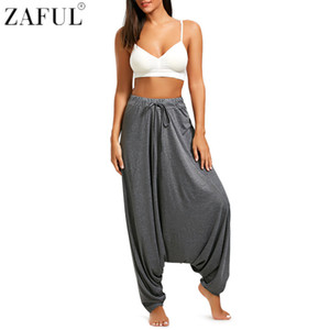 Zaful Yoga Pantaloni Donna Plus Size Bloomers Danza Yoga Pantaloni Smooth No Shrink Antistatico Fitness Full Length Pant