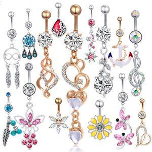 Moda oscila anel da barriga mix estilo umbigo botão piercing body jóias umbigo anéis para as mulheres
