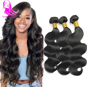Indian Body Wave Virgen cabello humano teje Indian Bodywave Extensiones de cabello humano 3/4 piezas Raw indio camboyano armadura de cabello humano India Luvin