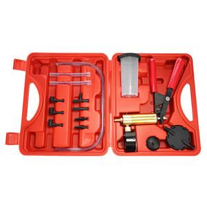 Freeshipping Hand Held Vacuum Pistola Pump Brake Bleeder Adattatore per serbatoio di liquidi Tester Kit 2 in 1 Kit di attrezzi