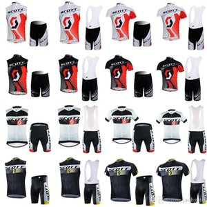 vendite Fiery SCOTT Uomini Cycling Jersey bici manica corta mountaion MTB senza maniche traspirante BIB abbigliamento Cycle Ropa Ciclismo F60605