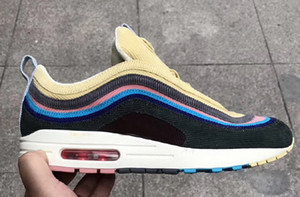 Hommes Sean Wotherspoon x 1/97 VF SW Hybride Chaussures de course Femmes Athletic 97 Argent Or Bullet Sports Sneakers