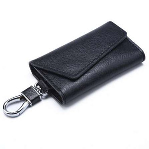 Echtes Kuh Leder Männer Frauen Key Wallets Mode Qualität Schnalle Multifunktionsschlüssel Tasche Haushälterin Halter Schlüssel Organizer Fall