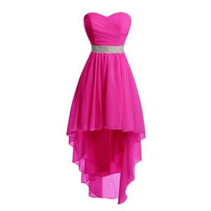 Eren Jossie Brand Sweetheart vestito da damigella d'onore alto-basso design abito all'ingrosso breve 2018 vestito da donna di vendita calda