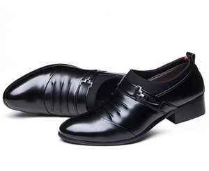 M-anxiu Homens Apontou Toe Negócios Sapatos de Tricô Moda Casual Respirável PU Sola De Borracha Sapatos de Vestido Liso sapatos de Casamento