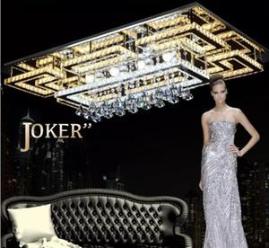 Luxus Moderne LED Kristall Deckenleuchte Square Deckenleuchte K9 Kristalldecke Kronleuchter für Wohnzimmer Schlafzimmer Restaurant Leichte Vorrichtungen