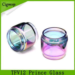 TFV12 principe vetro arcobaleno 8ml Extended Bulb Fat Boy Pyrex tubo di vetro di ricambio per TFV12 Prince serbatoio atomizzatore DHL LIBERA il trasporto