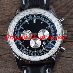 NUOVO AB012012 BB01 435X A20BA.1 NAVITIMER 1884 Cronografo multifunzione Movimento al quarzo Orologio da uomo Cassa in acciaio Fibbia pieghevole in pelle