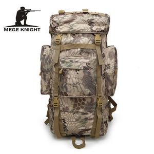 MEGE KNIGHT Yüksek kapasiteli taktik kamuflaj sırt çantası açık spor sırt çantası, ayarlanabilir kamp seyahat çantası giymek