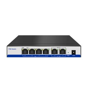 HYY10 активность CCTV 4 порта 10/100M PoE коммутатор питания через Ethernet по технологии PoE сети IP-камера системы настольных коммутаторов 2ports аплинк
