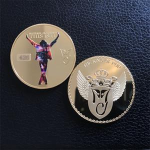 Michael Jackson rifinito in moneta d'oro Nuovo re del pop medaglione da collezione