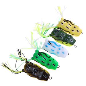 1pcs 5.5cm 13g Soft Topwater Ray Lure Artificial Bait Frog Fish Baits High Carbon Steel Hook Fishing Tackle Pesca Fishing Lures