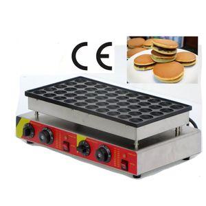 Comercial poffertjes grill pan mini panecillo pastel máquina de gofres equipo de merienda 50 agujeros muffin crepe máquina poffertjes grill machine np-544