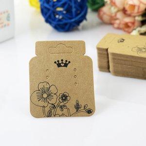 100pcs / lot بطاقات قلادة كرافت أقراط التغليف عرض بطاقة كرافت للقلادة مجوهرات الأسعار