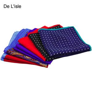New Arrival 100 %Natural Silk Handmade Pocket Handkerchief Pocket Square Polka Dot Hanky
