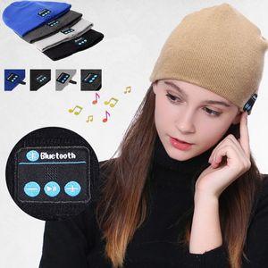 Mode Bluetooth Musique Bonnet Chapeau Sans Fil Smart Cap Casque Casque Haut-Parleur Microphone Mains Libres Musique Chapeau Doux Chaud