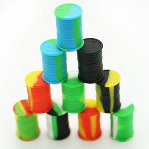 Contenedores de cera antiadherentes de alta calidad Caja de silicona Contenedor 11ML Frascos de grado alimenticio Dab Tool Tarro de almacenamiento Soporte de aceite Aprobado por la FDA