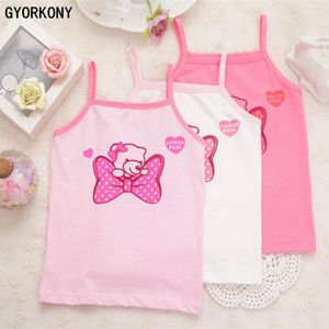 Girl cotton vest child world of tank girls underwear color girls tank tops kids clothing 3PCS A-358R-3P
